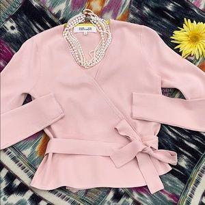 🌺 Diane Von Furstenberg; Rose Top/Sweater Size S!
